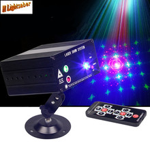 3 Holes 48 Figures Laser Stage Light + LED RGB 12V Stroboscopic Red Green Blue AC110-240V 9W DJ KTV Disco Lighting