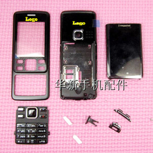 Black Brand New For Nokia 6300 New Full Housing Cover Case Keyboard Buttons Free shipping