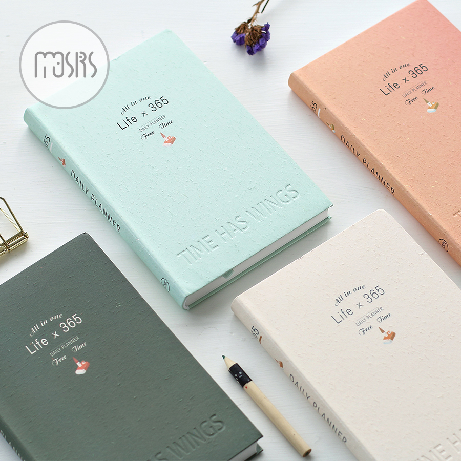 New 365 Day plan Year monthly planner Notebook school Diary 112 sheets paper Graffiti Office School Supplies Gift