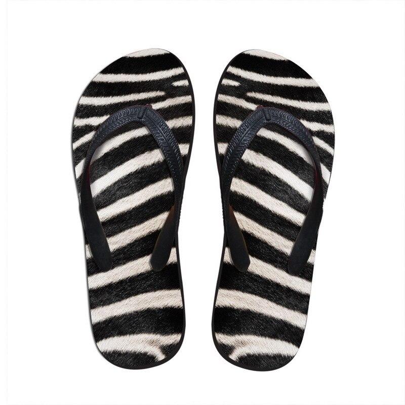 Popular Designer Men Flip Flops Novelty Animal Leopard Fur Print Beach  TF93