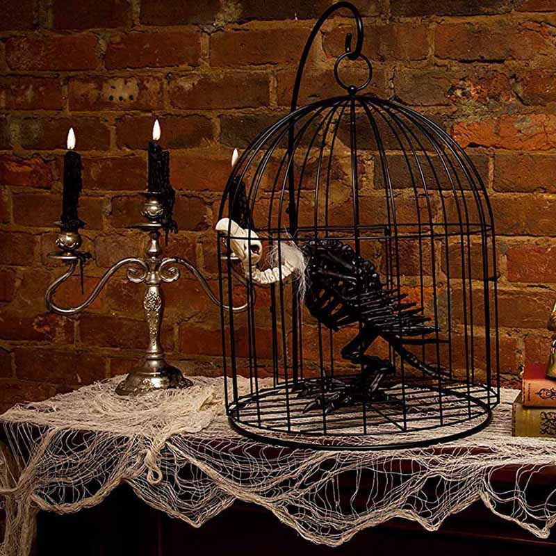 Halloween Decoration Bone Props Animals Skeleton Ornaments Bat Spider Dragon Bird Bones Hallowmas Horror House Party Decoration (130)