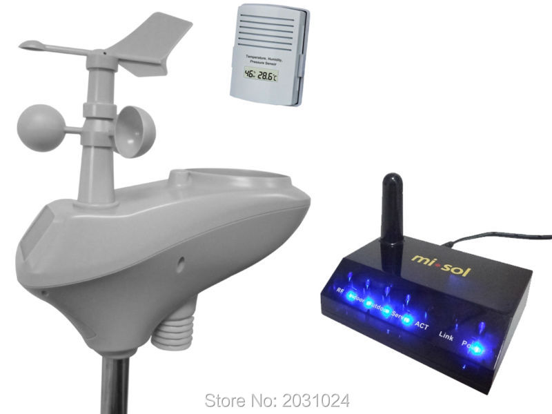 IP OBSERVER Solar Powered Wireless Internet Remote Monitoring Weather Station