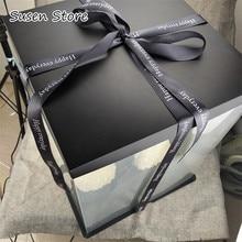 3 размера, Подарочная коробка на заказ, прозрачная коробка для торта на день рождения, толстая пластиковая подарочная коробка на день рождения, упаковка для выпечки