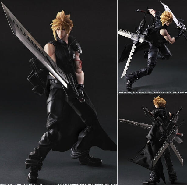 ФОТО Final Fantasy Play Arts Kai Action Figure Cloud Strife Collection Anime Model Toys Final Fantasy Playarts Kai 270MM