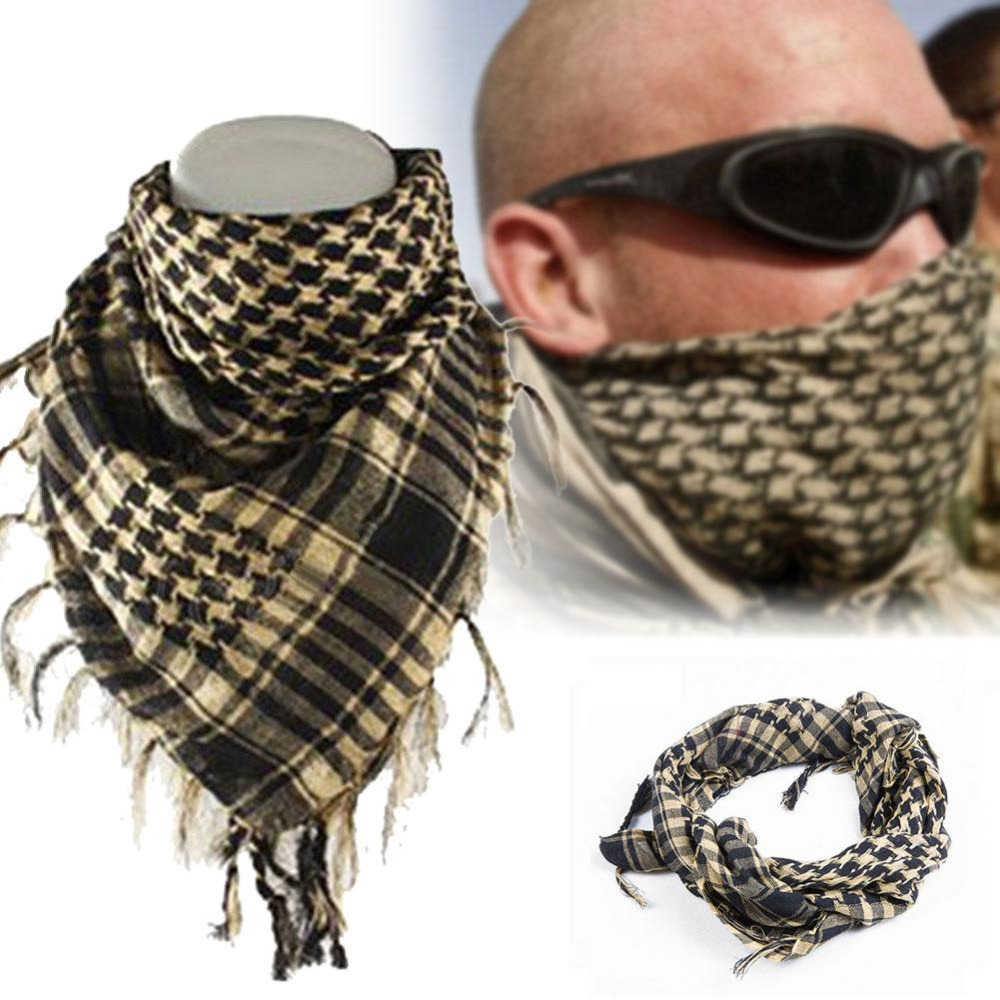 ef799e423c45c Aliexpress.com   Buy 100% cotton wholesale Shemagh tactical desert Arab  muslim hijab scarves men or women winter wind proof wind scarf military  from ...