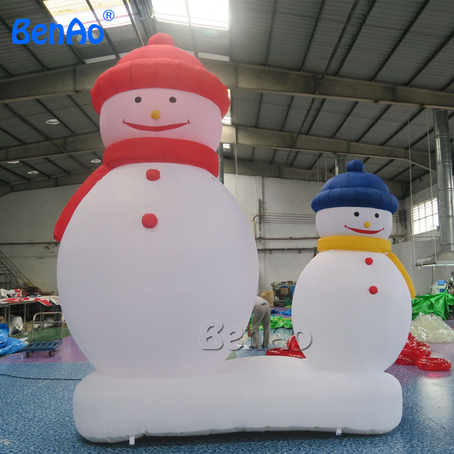 x036 4mh 132 commercial airblown inflatable snowman christmas yard art decoration 1 ce