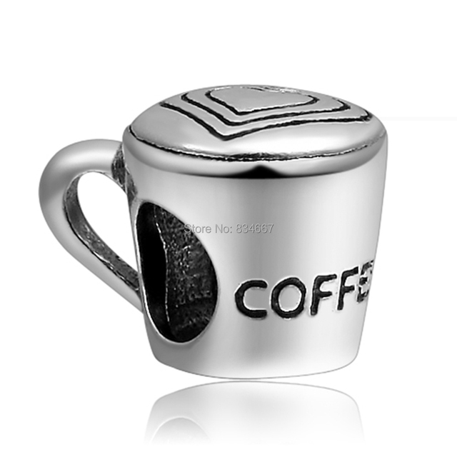 2e0c04cd0 New Arrivals 925 Sterling Silver Coffee Cup Charm Beads Fit European Pandora  Charms Bracelet+free shipping