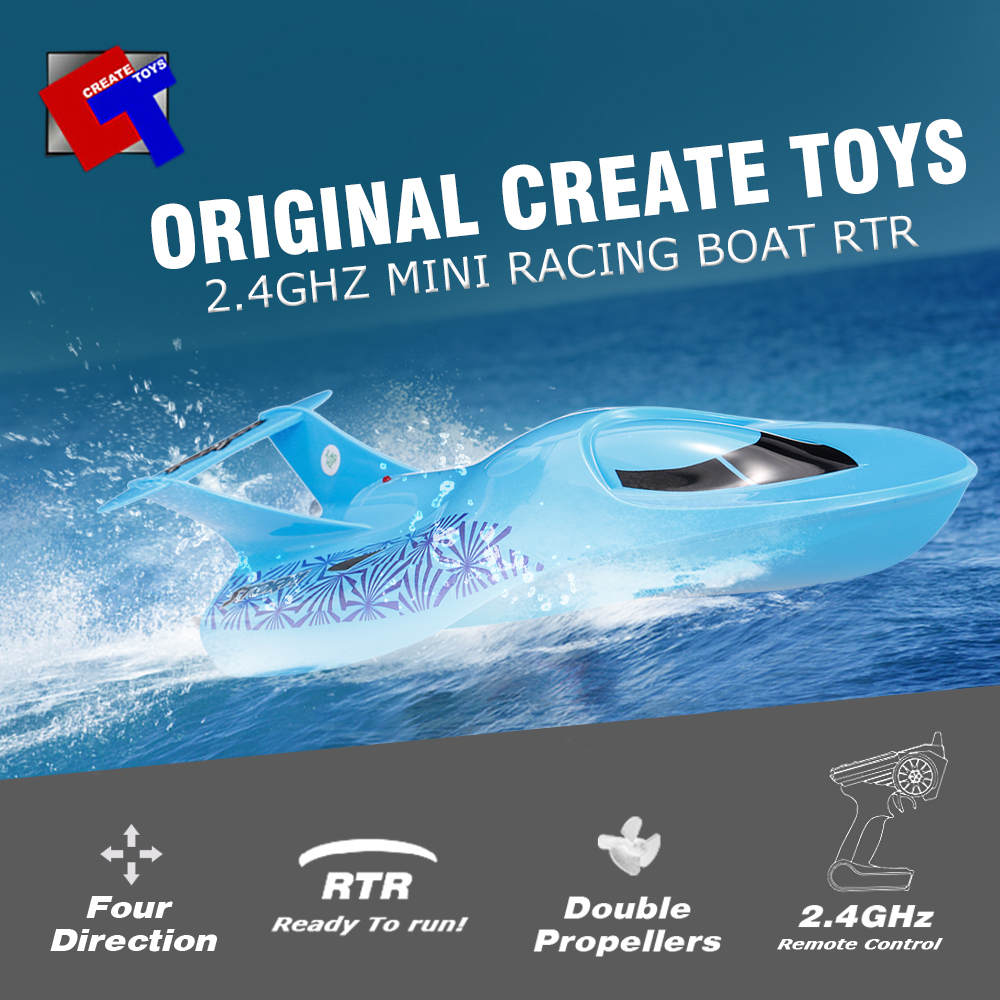 Boat Create Toys Sea Wing Star Barco 3322 2.4GHz Mini Radio Control Electric Racing Submarine RTR-in RC Boats from Toys & Hobbies    1