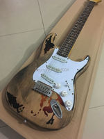 Handmade antique do old ST guitars, real relic guitars, factory wholesale, real photos, color can be customized