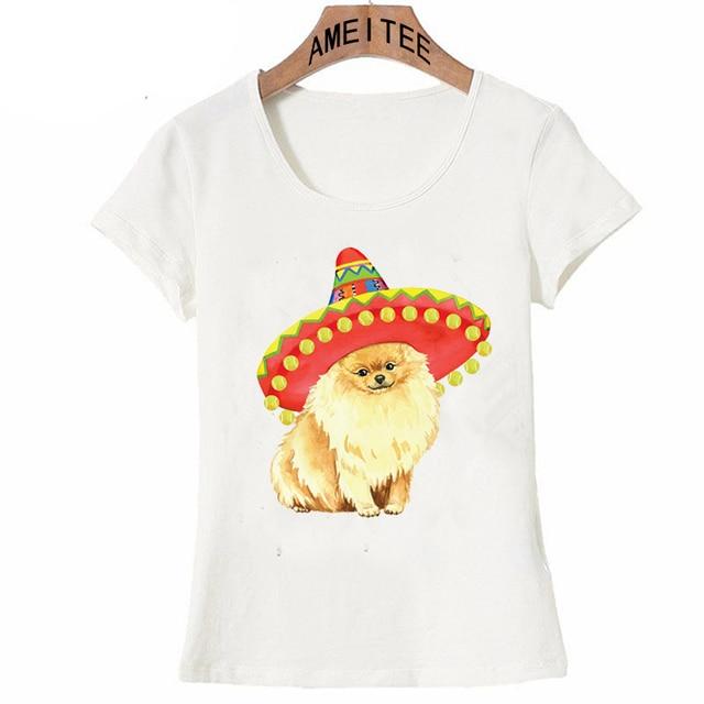 8931ac31b Fiesta Pomeranian Trucker Hat T-Shirt Women t-shirt funny dog design T Shirt