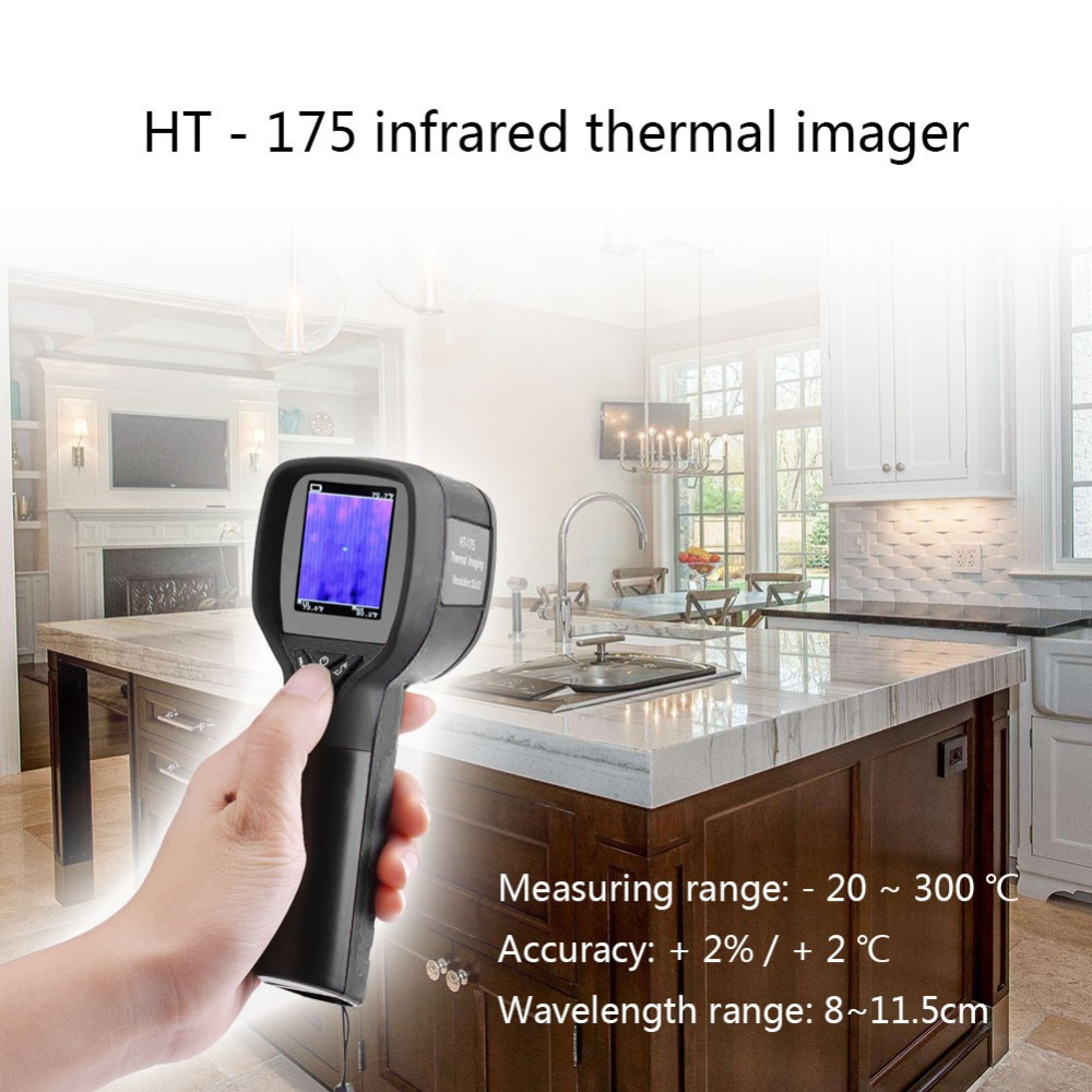 HT-02D Handheld Thermal Imaging Camera With 2 inch Colorful Screen LCD 4