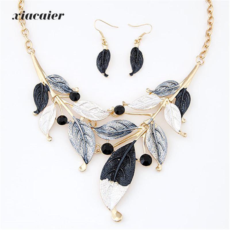 xiacaier Bohemian Fashion Metal Necklace Earrings Jewelry ...