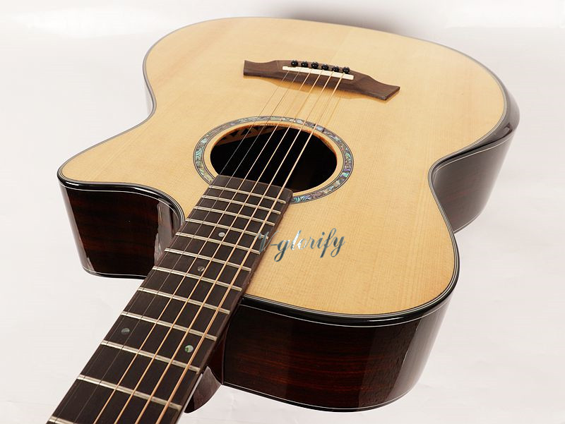 40 inch perforated sound beam spruce face single corner acoustic guitar40 inch perforated sound beam spruce face single corner acoustic guitar