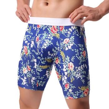 Men Underwear Boxers Comfortable Long Boxers 1