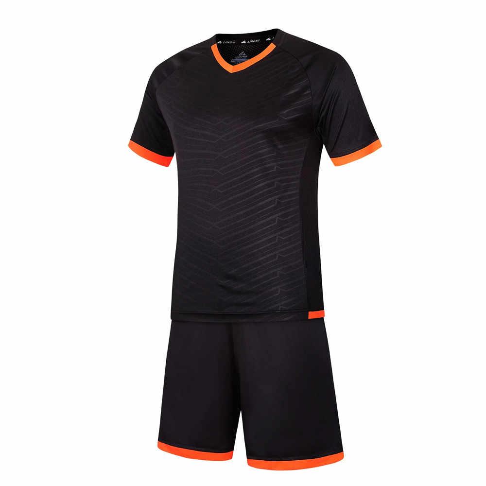Survetement Детская Футбольная форма для мальчиков, футбольные майки, набор, чёрный футбольный командный тренировочный костюм, дышащая форма DIY XXS