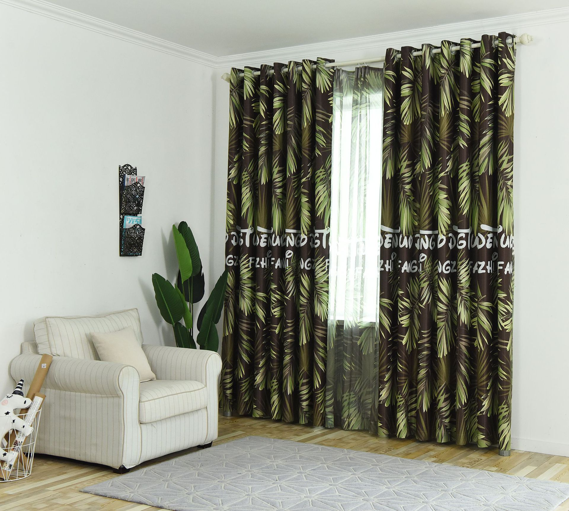 2019 Modern Blue Leaves Printed Blackout Curtains For Living Room Window Tulle And Curtains For Bedroom Child Drapes 85 Shading From Gor2don 20 97