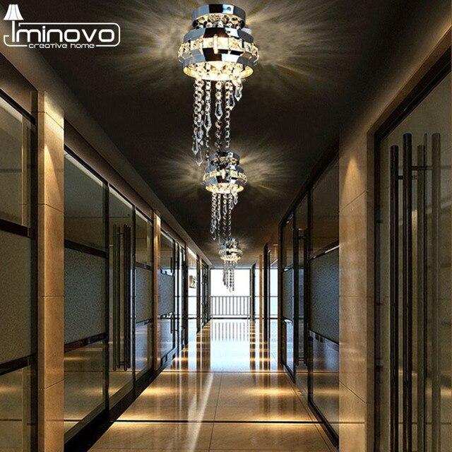 Us 2588 Iminovo Led Luksusowe Kryształowe Lampy Sufitowe Lampy Wystrój żyrandol światła E27 G4 Nowoczesne Lampy Ze Stali Nierdzewnej Sypialnia