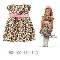 الصيف ليوبارد الفتيات الفساتين مع حزام وردي vestidos meninas روبا نينا عارضة طفل الفتيات اللباس الاطفال ملابس الأطفال الملابس