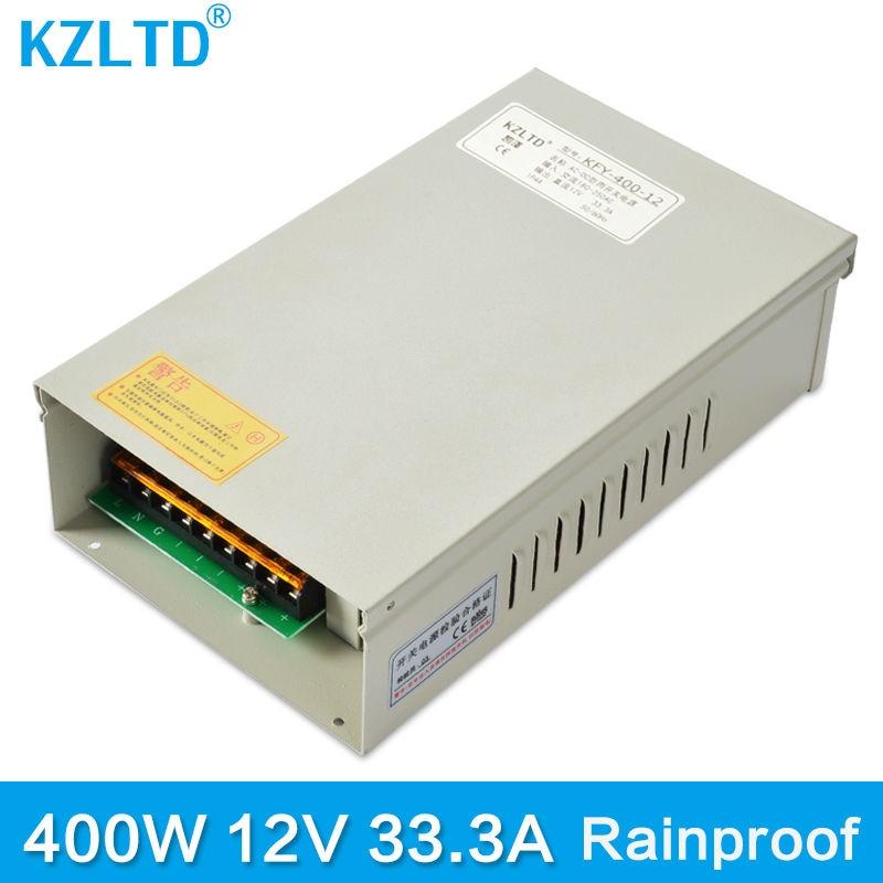 все цены на 220V 12 V Power Supply 400W Outdoor Weatherproof Rainproof Universal Regulated Switching Power Supply AC-DC SMPS 3 Year Warranty онлайн