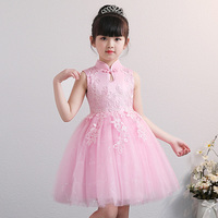 Beautiful Cheongsam Little Girls Clothes Baby Qipao Dress for Brithday Party Kids Princess Performance Formal Wedding Costumes