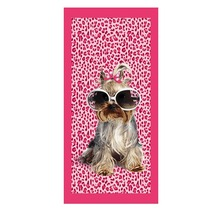 New Beach Towel Microfiber Bath For Adult reactived Pink Dog Printed Drying Toalla Bathroom 70*140cm Body