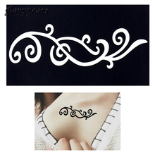 1pc Small Henna Indian Tattoo Stencil Drawing For Airbrush Painting Women Flower Lace Clavicle Waist Body Art Tattoo Sticker G52
