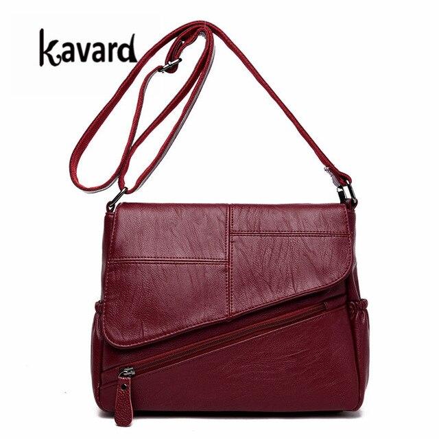 84aec7e88 Kavard Mulher Ombro Saco De Retalhos de Couro Pu Bolsa de Moda Mini-sacos  Crossbody