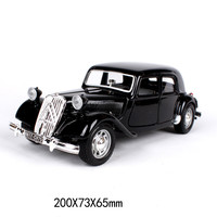 1:24 Simulation Diecast Classic Car Model Toys For Citroen 1938 With Steering Wheel Control Front Wheel Steering For Children