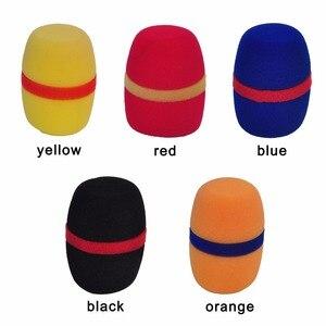 Image 4 - WS 01 çeşitli renkler kalınlaşmak formu profesyonel mikrofon ön camları Mic kapak koruyucu ızgara kalkan yumuşak sünger kap