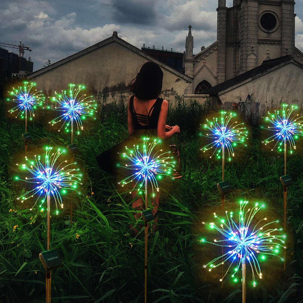 Weihnachten lichter Fee licht solar powered starburst lichter 120 LED outdoor garden string licht
