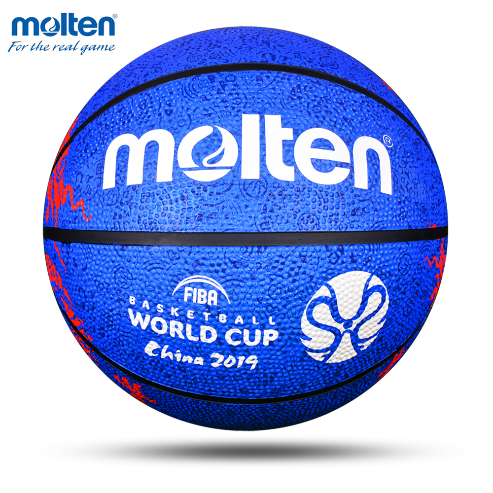 Molten Official Basketball Ball Size 7 Rubber Material Basketball Wear-Resistant General Competition Training Basketbol Topu