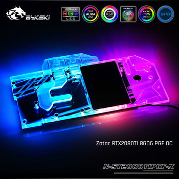 Bykski N-ST2080TIPGF-X, Full Cover Graphics Card Water Cooling Block, For Zotac RTX2080TI 8GD6 PGF OC