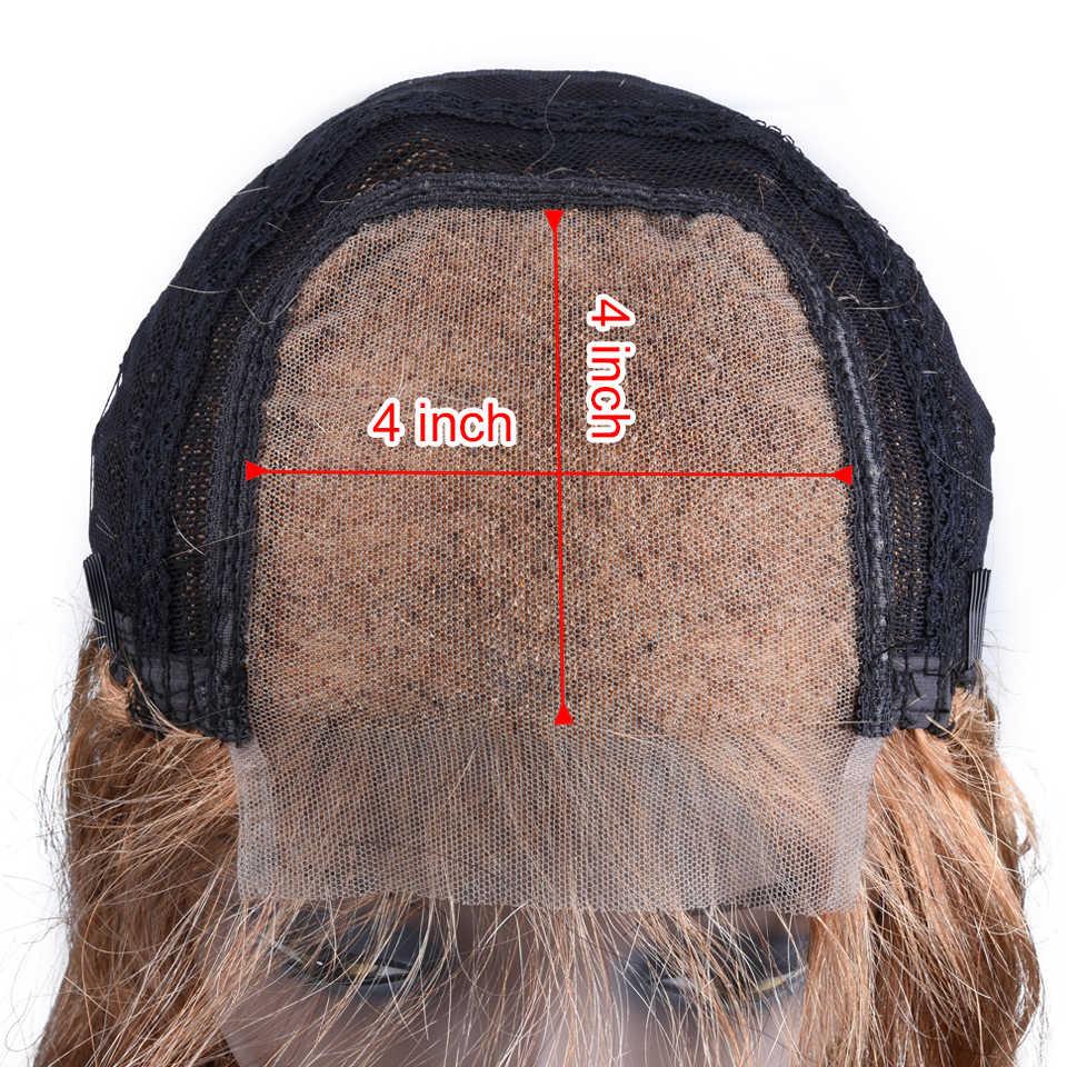 Soph queen hair 4*4 человеческие волосы на кружеве парики с волосами младенца бразильские волосы Remy цветные парики с волнистыми волосами для черных женщин
