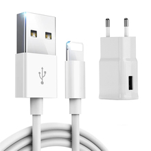 Kit 1m USB Charging Cable + USB Wall Charger For iPhone 5 5S 6 6S 7 8 Plus X XS Max XR
