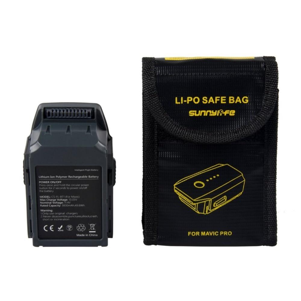 11.4V 3830mAh Intelligent Flight Battery Fireproof Safe Bag Set Lithium-ion Polymer Rechargeable Battery For DJI Mavic Pro цена
