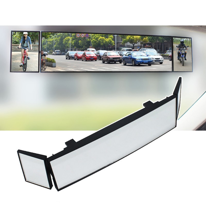 15''Universal Car Rear View Mirror Wide Angle Clip-on Curved Mirror Anti-dazzle Interior Rearview Mirror