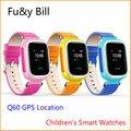 Новая Мода GPS позиционирования Q60 детская smart watch трек отслеживания анти потерял ключ SOS детский телефон часы