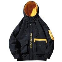 Cargo Jacket Men Autumn Winter 2019 New Fashion Streetwear Japanese Korean Loose Style Men's Jackets Hip Hop Coat Man Brand 4XL