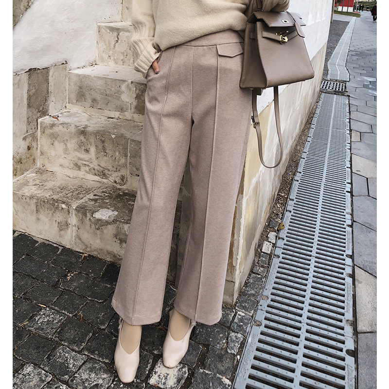 Mishow New Women's   Pants   2018 Women Autumn Winter High Waist   Wide     Leg     Pants   casual Loose Trousers MX18D2555