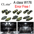 19pcs X Error free LED interior light lamp Kit package For Mercedes Benz A class W176 A180 A200 A260 A250 A45 AMG (2013+)