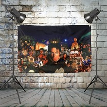 """MICHAEL JACKSON"" Heavy Metal Band Poster Music Banner Background Wall Flag Decor Vintage Creative Cloth Art Painting(China)"