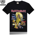 T shirt Men Fashion 2017 Iron Maiden 3D Print T shirt Brand Clothing anime Iron Man Hip Hop Men's T-shirts Mens Cotton Casual