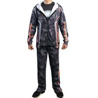 Avengers Infinity War Iron Man Cosplay Costume Hoodie Tony Stark Camouflage Jacket Coat Sweatshirt Pants/T shirt for Men