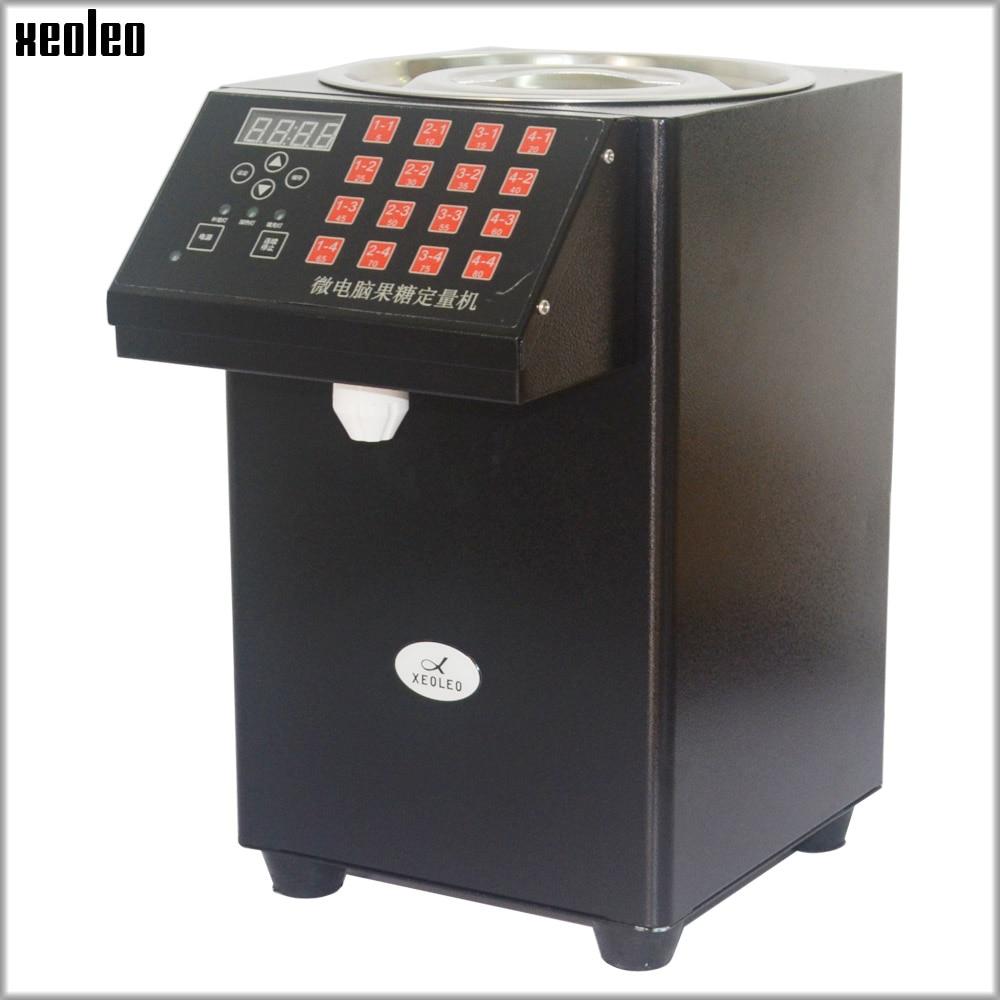 XEOLEO 16 Quantitative Fructose machine Automatique de Fructose Sirop distributeur Bulle thé boutique thé Au Lait Équipement lévulose