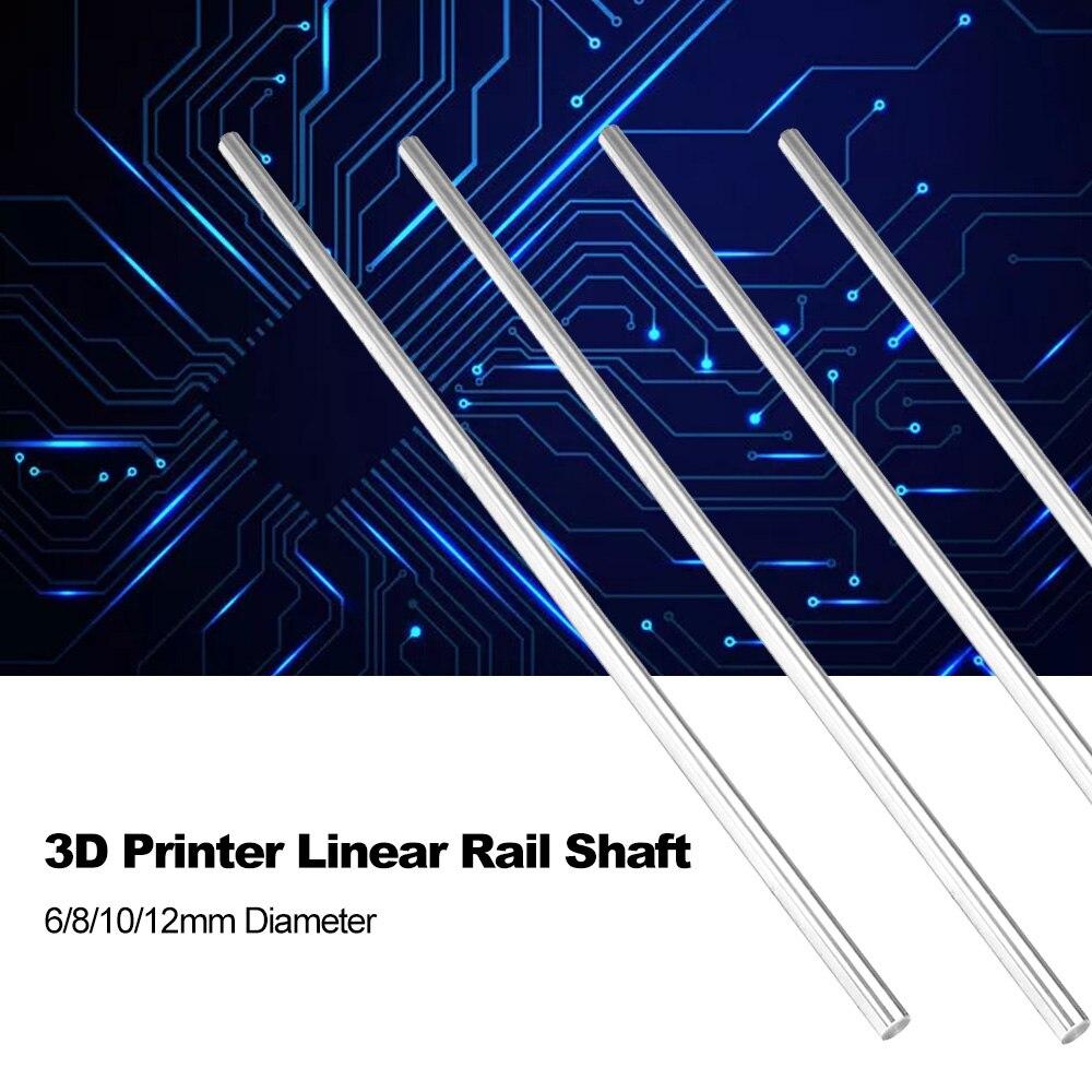 400mm 6//8//10//12mm CNC 3D Printer Axis Chromed Smooth Rod Steel Linear Rail Shaft
