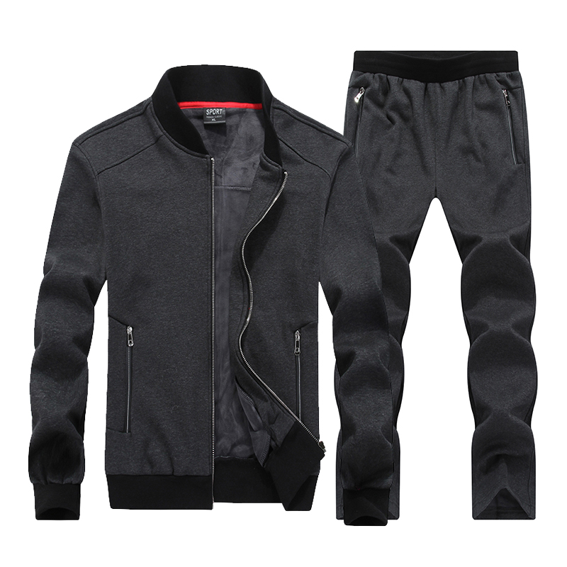 7XL 8XL Big Size Sportt Suits Men Sportswear Sets Warm Gyms Clothes Fleece Fabric Male Winter Tracksuit Runnning Suit Mens men sport suit autumn winter big size 6xl 7xl 8xl warm knitted tracksuits printing design male fitness jogging running sets