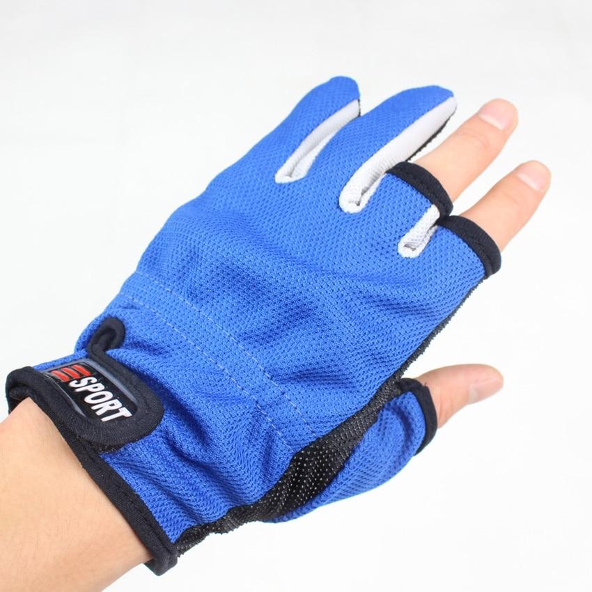 ᓂ1 Pair 3 Warna Memancing Luar Anti Slip Sarung Tangan Memancing A621