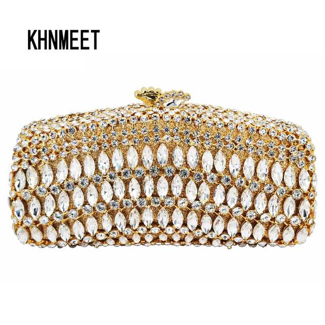 LaiSC red rhinestone clutch bag Luxury crystal clutch evening bag rainbow diamond  banquet bag wedding pochette party purse SC110 d1459e2967e2