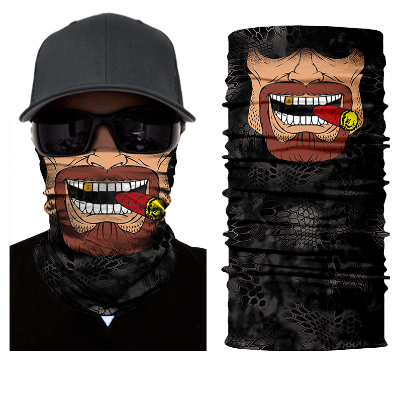 BJMOTO 2018 Men Scarves Face Shield Sun Mask Balaclava Seamless Washouts Scarf Outdoor Ride Bandanas Sport Motorcycle bike Scarf цена 2017