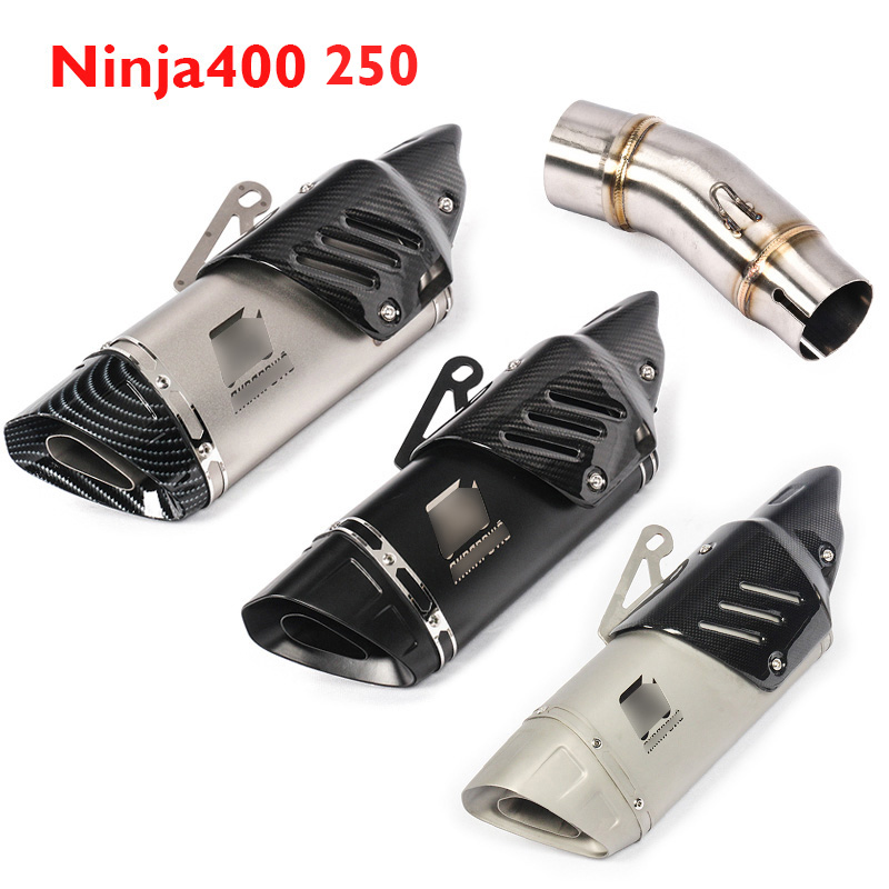 Tube-Pipe Ninja250 Muffler Escape Exhaust-System Motorcycle Kawasaki Mid for Middle-Link
